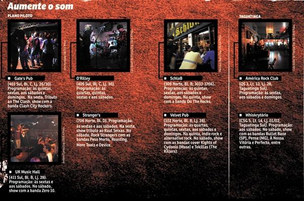 Conheça os principais locais onde se ouve o velho e bom rock'n'roll (Cristiano Gomes/CB/D.A Press)