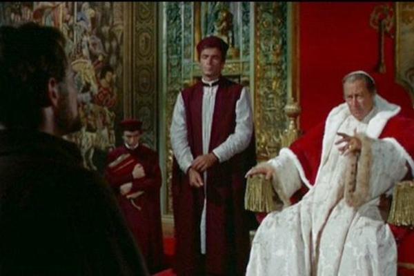 No elenco de Agonia e Êxtase, os atores  Charlton Heston, Rex Harrison, Harry Andrews  (20th Century Fox Film/Divulgação)