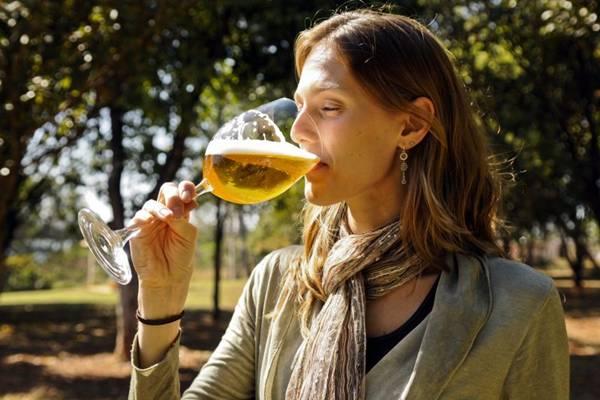 Kathia Zanatta criou o curso de cervejas da Associação Brasileira de Sommeliers (ABS) (Rafael Ohana/CB/D.A Press)