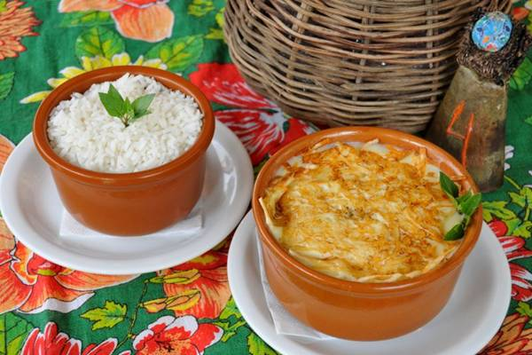 O prato com charque, especialidade do Fulô do Sertão (Antonio Cunha/Esp. CB/D.A Press)