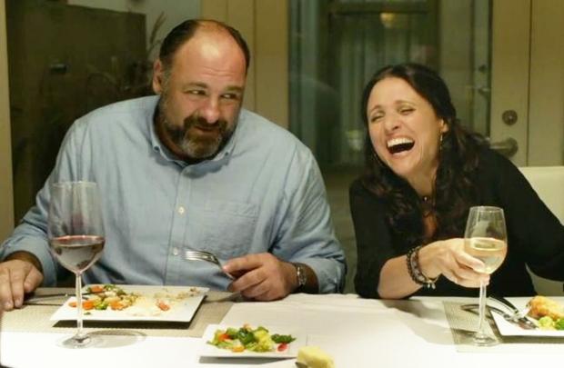 James Gandolfini e Julia Louis-Dreyfus fazem comédia simples (mas caprichada) sobre relacionamentos após o divórcio (Lacey Terrell/Divulgação)
