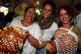 Preta do Tamnoa, Damires Rocha e Sabrina Ferreira (Lula Lopes/Esp. CB/D.A Press)