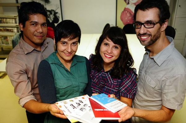 Escritores que estudaram juntos na UnB, Yury Hermuche, Gabriela Goulart, Carolina Nogueira e Daniel Cariello (Bruno Peres/CB/D.A Press)