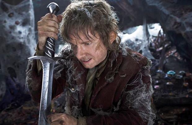 'Por natureza, Bilbo não é um aventureiro ou lutador; mas, ao estar entre espécies que querem matá-lo ou se alimentar dele, não é preciso ressaltar a grandeza das mudanças pelas quais ele passa' Martin Freeman, ator (Mark Pokorny/Warner Bros)
