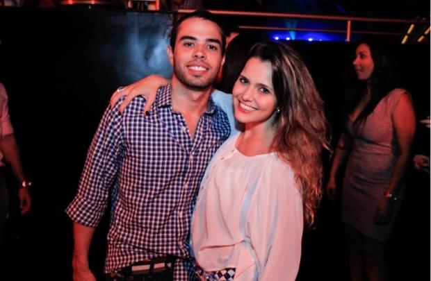 Rogério Moreira e Larissa Michael estiveram no show de Cristiano Araújo, na Villa Mix (Lula Lopes/Esp. CB/D.A Press)