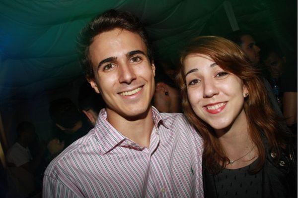 Tiago Mergulhao e Vanessa Gomide, durante festa ensaios de carnaval no Calaf (Lula Lopes/Esp. CB/D.A Press)