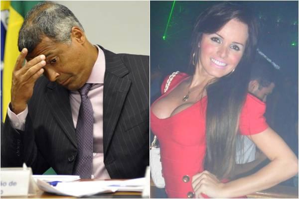 Romário foi visto com Thalita saindo de uma boate no Rio (Ronaldo de Oliveira/CB/D.A Press, Reprodução/Facebook@Thalita Zampirolli)