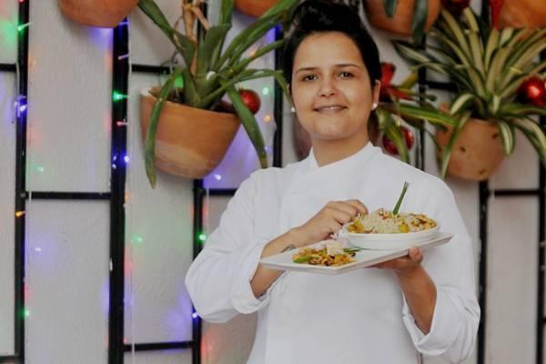 Renata Carvalho aposta no uso de frutas porque elas combinam com várias carnes (Antonio Cunha/Esp. CB/D.A Press)