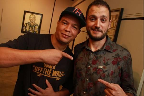 Francisco Pessanha e Mateus Dutra, durante exposição  (Lula Lopes/Esp. CB/D.A Press)