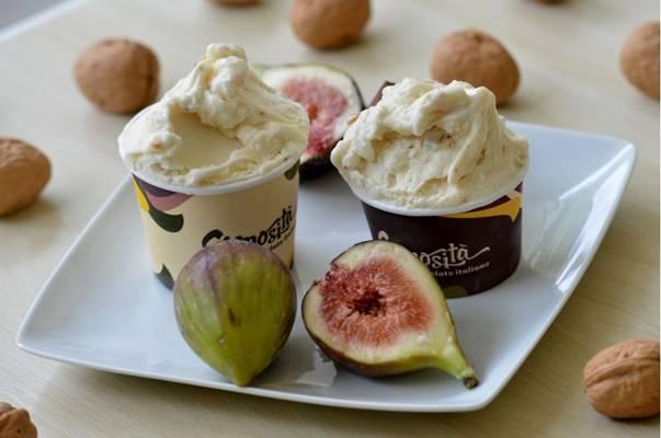 Nozes com figo é um sabor de gelato encontrado na Cremosità somente nesta época do ano (Gustavo Moreno/CB/D.A Press)