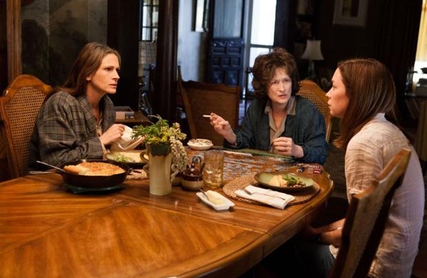 Julia Roberts (E) e Meryl Streep: indicadas ao Globo de Ouro (Claire Folger/Imagem Filmes)