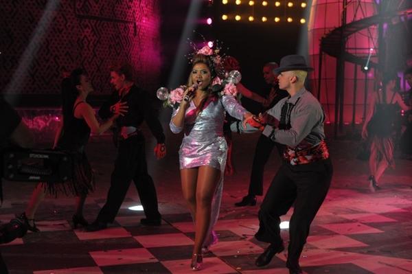 Apresentação da cantora Gaby Amarantos, durante a noite de premiação do VMB 2012 (Alex Carvalho/TV Globo)