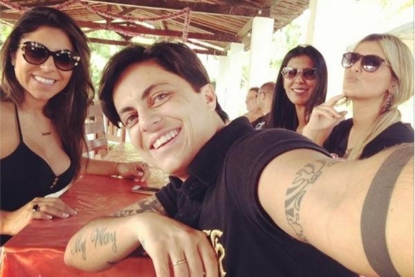 Andressa Ferreira, Thammy Miranda e colegas em almoço no último domingo  (Instagram/Reprodução)