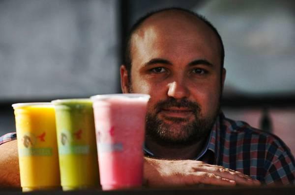 Rafael Costacurta, sócio do Marietta: casa trouxe hábito de tomar sucos a Brasília (Iano Andrade/CB/D.A Press)