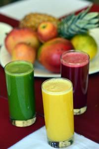 Café da manhã do Bhumi inclui sucos funcionais: saúde em primeiro lugar   (Gustavo Moreno/CB/D.A Press)