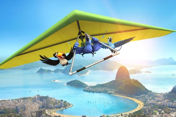 Blu se apaixona por Jade e os dois viajam numa aventura pelo Rio de Janeiro (20th Century Fox/Divulgação)