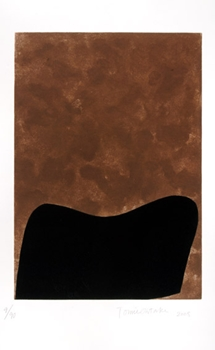 Acima, uma das gravuras criadas por Tomie Ohtake  (Tomie Ohtake/Divulgação)