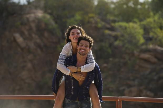 Casal ficou mais próximo nas gravações da série 'Amores roubados', da TV Globo (TV Globo/ Divulgação)