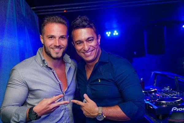 DJ Fernando Mesquita e Kento Lucchesi na casa noturna no Gilberto Salomão (Felipe Menezes/Divulgação)