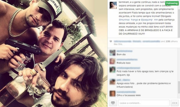 Seguidores criticaram a imagem  (Instagram/Reprodução)