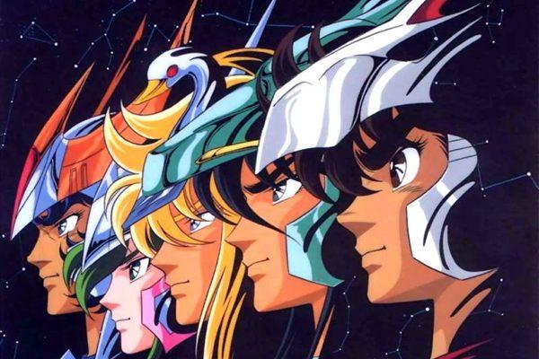 Da esquerda para a direita, os heróis de Atena: Ikki, Shun, Hyoga, Shiryu e Seiya (Toei Animation/Divulgação)