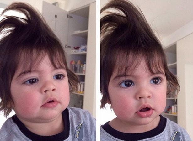 Milan, 1 ano, é filho da cantora colombiana Shakira com o jogador de futebol Piqué (Reprodução/Instagram)