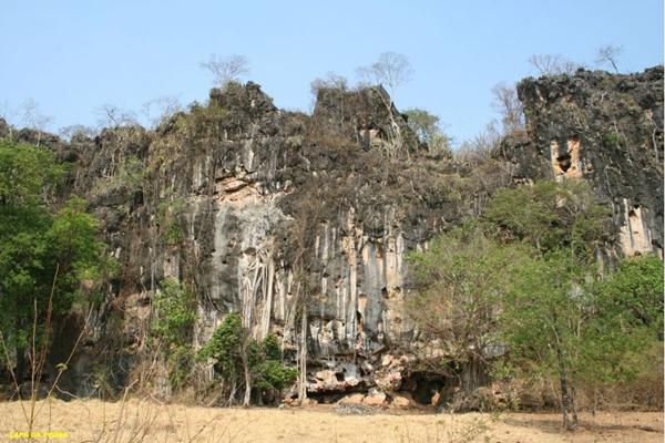 Pictogramas de povos primitivos da Toca da Onça ( Secretaria de Turismo de Formosa/Divulgação)