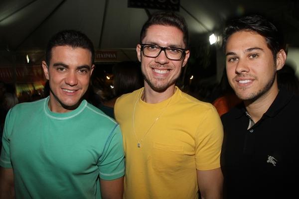 Tiago Correia, Marcelo Alvarenga e Henrique Fiorese (Lula Lopes/CB/D.A Press)