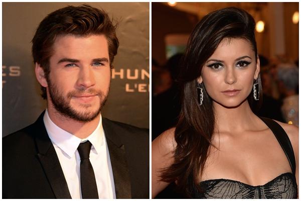 Liam faz parte do trio de estrelas de Jogos Vorazes e Nina protagoniza a série The Vampire Diaries (PIERRE ANDRIEU/Dimitrios Kambouris/Divulgação )