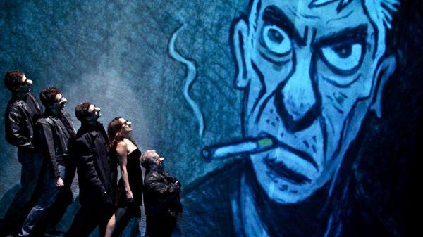 Diversão e crítica: a trupe paulista Os parlapatões é a principal atração do evento com peça que visita os personagens do cartunista Angeli ( Camila Possolo/Divulgação)