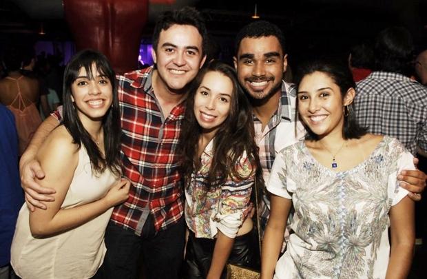 Lara, João, Tatiana, Thiago e Bárbara (Gustavo Messina/Esp. CB/D.A Press)