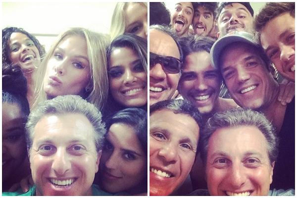Luciano Huck usou o Instagram para postar foto do elenco de Saltibum (Instagram/Divulgação)