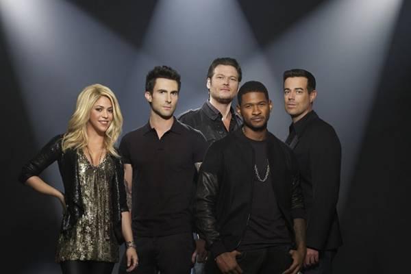 The voice US volta com Usher e Shakira entre os jurados (NBC/Divulgação)