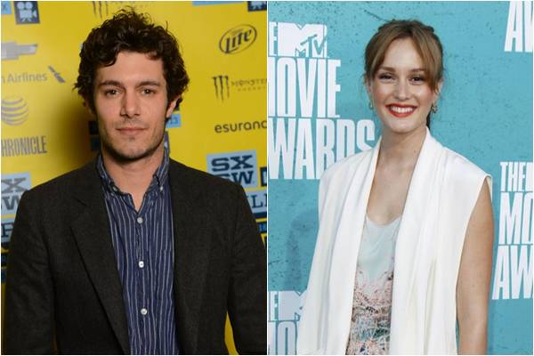 Adam Brody e Leighton Meester em setembro de 2012 ( Mark Davis/Getty Images/AFP, Danny Moloshok/Reuters)