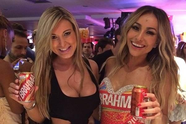 Andressa Urach e Sabrina Sato na festa de lançamento do Camarote Brahma (Reprodução/Instagram@andressaurachoficial)