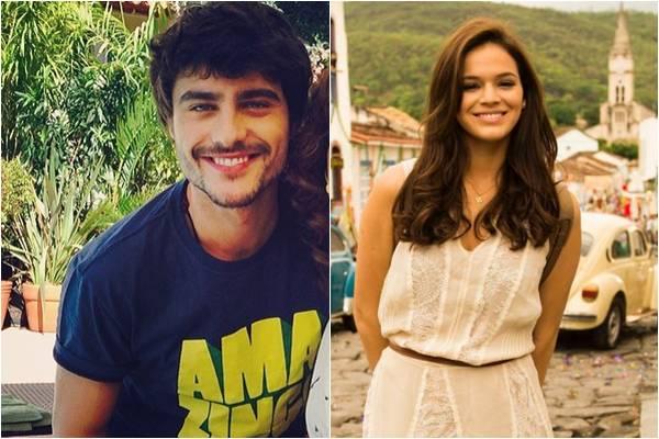 Guilherme e Bruna contracenaram juntos na novela Em família (Reprodução/Instagram, João Miguel Jr/TV Globo)