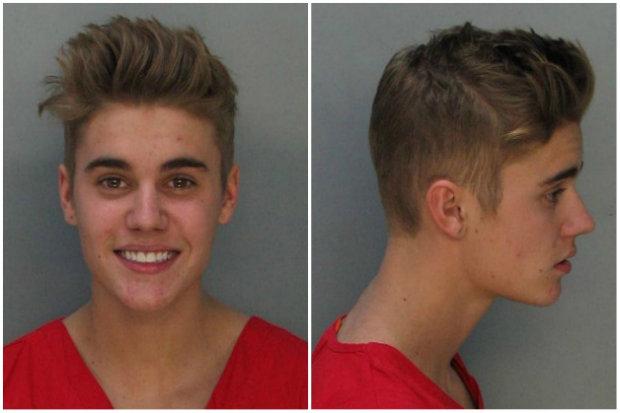 Justin Bieber quando foi detido em 23 janeiro (Getty Images/Reprodução)
