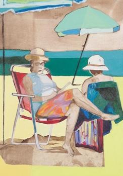 O cotidiano de senhoras nas praias cariocas inspirou mostra de Adriana Marques (Adriana Marques/Reprodução)
