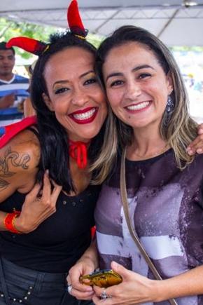 Silvia Gomes e Aissa Queiroz (Rômulo Juracy/Esp. CB/D.A Press)