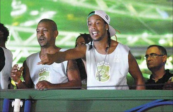 Ronaldinho Gaúcho foi atração em Salvador, em camarote com seu nome (Teresa Maia/DP/D.A Press)