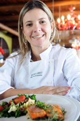 A nutricionista Michele Merlo investiu em um forno especial para servir receitas saudáveis (Iano Andrade/CB/D.A Press)