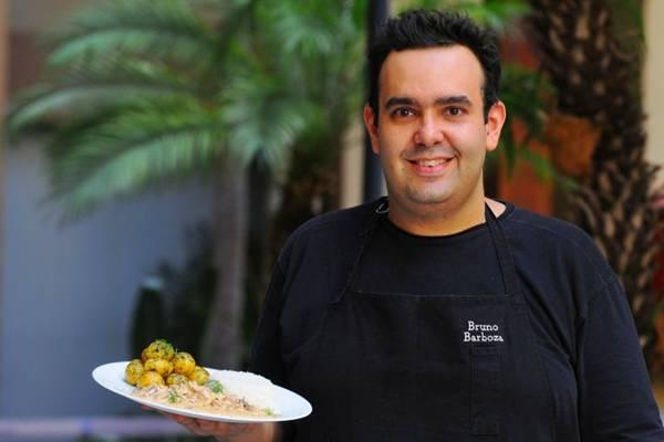 Para Bruno Barboza, o chef não deve deixar de usar a imaginação ao recriar Pratos  (Janine Moraes/CB/D.A Press)