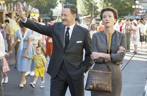 O alegre Walt Disney e a sóbria P.L. Travers: humores diferentes apresentados de forma maniqueísta (François Duhamel/Divulgação)