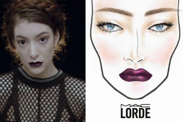 Fãs do visual de Lorde vão contar com produtos inspirados pela cantora ( MAC/Universal Music/Divulgação )