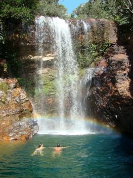 A cachoeira Rainha II é uma das opções para quem quiser se refrescar depois de uma trilha ecológica (Pedro de Paola/Divulgação)