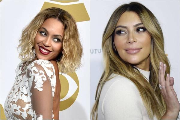 Beyoncé e Jay Z são amigos próximos do noivo, Kanye West, mas cantora teria dito que acha de mau gosto o casamento dos sonhos planejado por Kim Kardashian (D) (Frazer Harrison/Getty Images/AFP, Kevork Djansezian/Reuters)