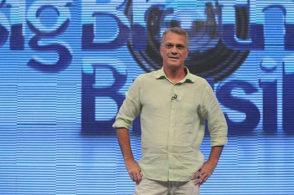 Apresentador Pedro Bial no Big Brother Brasil ( Frederico Rozário/TV Globo)
