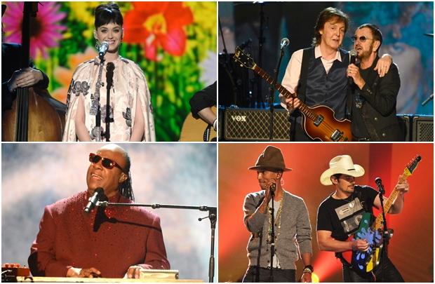 Estrelas participam de tributo ao lado de Paul McCartney e Ringo Starr (TNT/Divulgação)