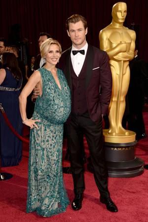 Elsa Pataky e Chris Hemsworth durante a premiação do Oscar (Frazer Harrison/Getty Images/AFP)