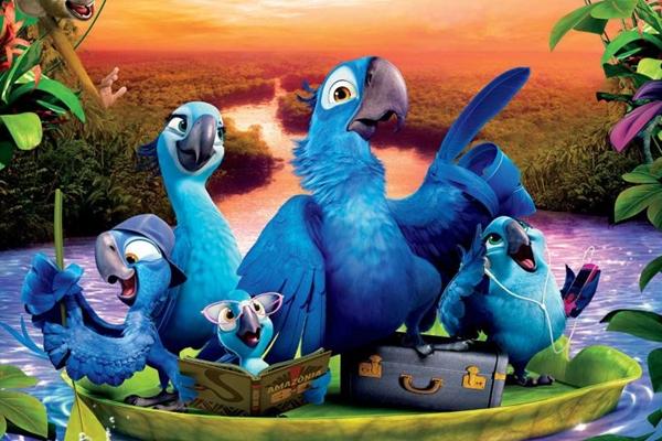 A animação Rio 2 dá continuidade a história das araras Blu e Jade  (Fox/Divulgação)